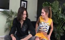 Hot Cheerleader Teen Natalie Fucks After Flirting