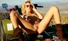 Kiara Diane Goes In The Mountain And Masturbates On Her 4x4