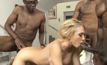 Massive titted blonde whore enjoyed many big black dicks