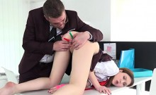 College Babe Suzi Gets Poked With Pens By Tutor