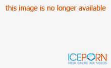 Geeky babe with blue hair takes a work break to play with h
