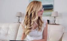 Teen lesbian in glasses