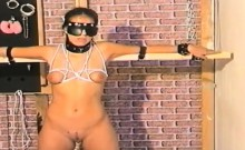 Horny babe loves to get tied up before her pussy is tortured