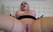 Voluptuous vixen takes a rough anal pummeling