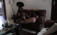 AFrican doll rides white cock in extreme webcam porn scenes