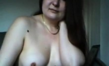 Housewife Vanessa flashing on home webcam