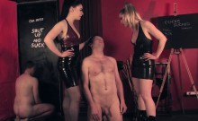 Mistresses dominating subs with gloryhole