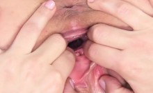 Nasty czech kitten spreads her yummy slit to the strange