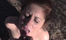 Big cock cop gives facial outdoor