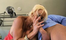 Blonde MILF Wife gets Cock in the kitchen