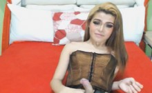 Pretty Horny Shemale Love Jerking On Cam