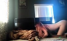 Little redhead teen into interracial porn