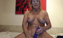 Mature German blonde masturbating