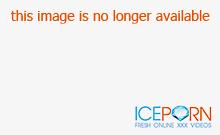 Blonde Lux Kassidy in black panties and stockings