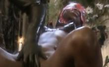 Gorgeous black babe riding dick