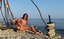 Secluded Beach Is The Place To Masturbate