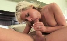 Cute blonde enjoys deep anal sex