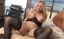 Ivka is a hot blonde granny with huge tits and a plump...