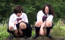 Weird asian students pee