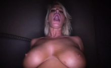 Ike Diezel railing that shaved milf pussy grinding on top