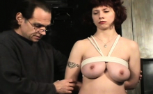 Mature Whore Gets Nipple And Vagina Pinching Bdsm Style