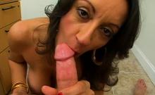 Lusty Busty Brunette Girlfriend Persia Blows Well