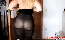 Very Sexy And Hot Chubby Stripping