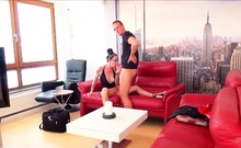 Skinny German Wife Stella with Glasses Cheating Creampie Sex