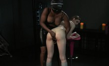 Natural busty slave licks her mistress